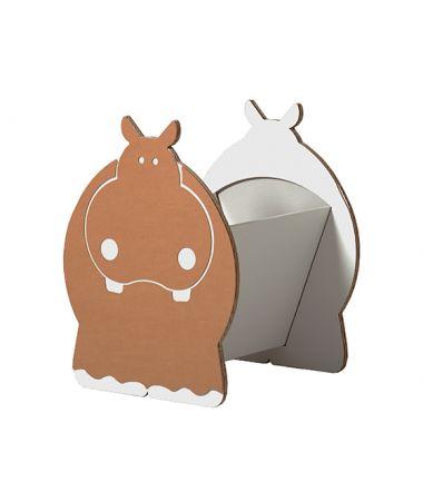 Cesta Portagiochi in cartone Hippo