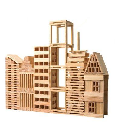 Kapla costruzioni legno naturale 200 pz