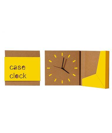Case Clock Orologio a parete Giallo
