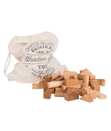 Blocchi da costruzione Legno Naturale 100 pezzi