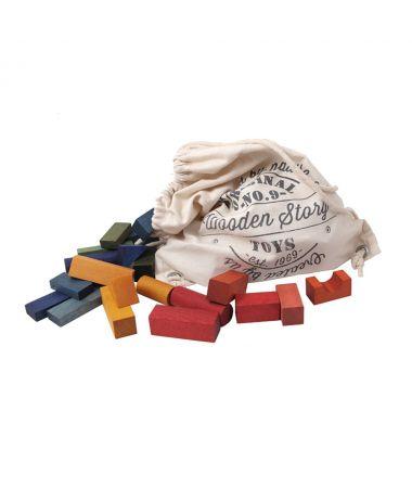 Blocchi da costruzione Legno Rainbow Colorati 100 pezzi