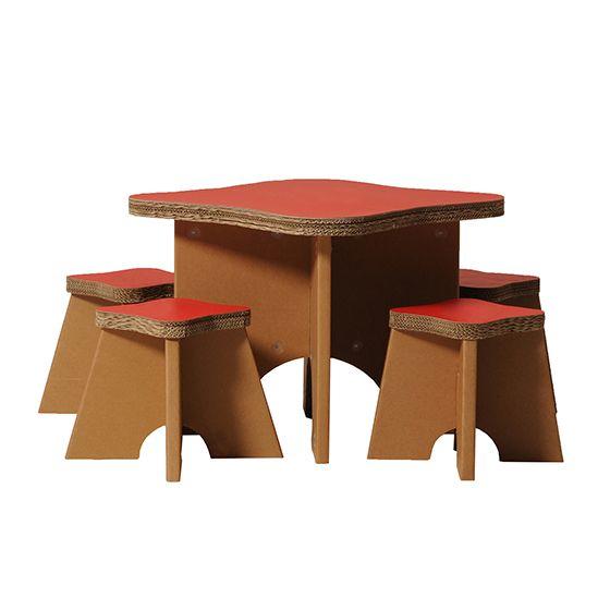 Tavolo e sgabelli per bambini Write
