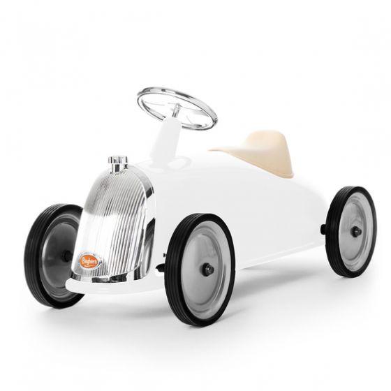 Macchina Cavalcabile bianca, macchina cavalcabile Baghera