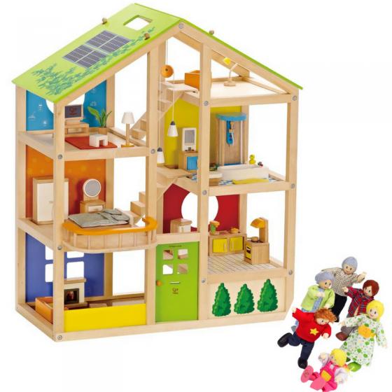 Casa delle Bambole 4 stagioni arredata con Famiglia