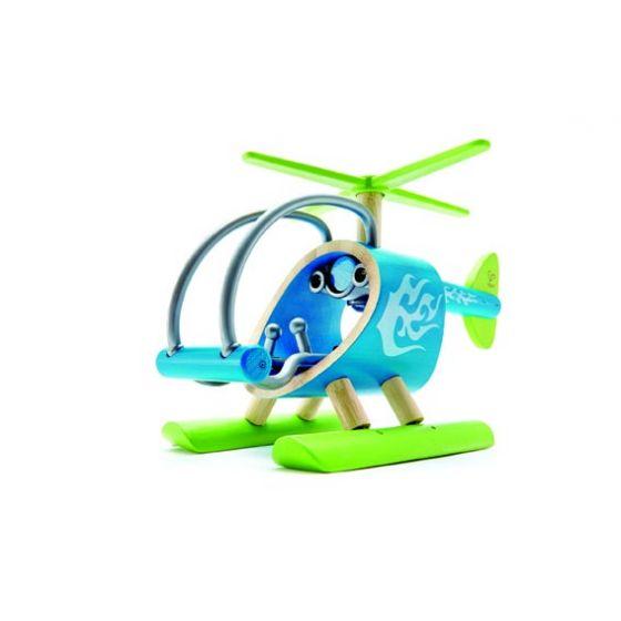 Elicottero in bambù | Elicottero Hape | Elicottero per bambini