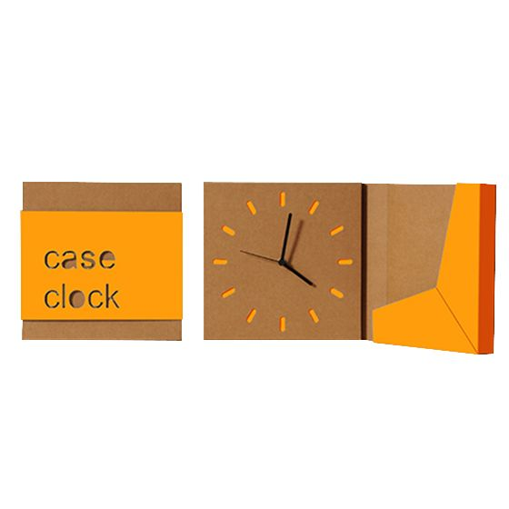Orologio a parete Case Clock Arancio