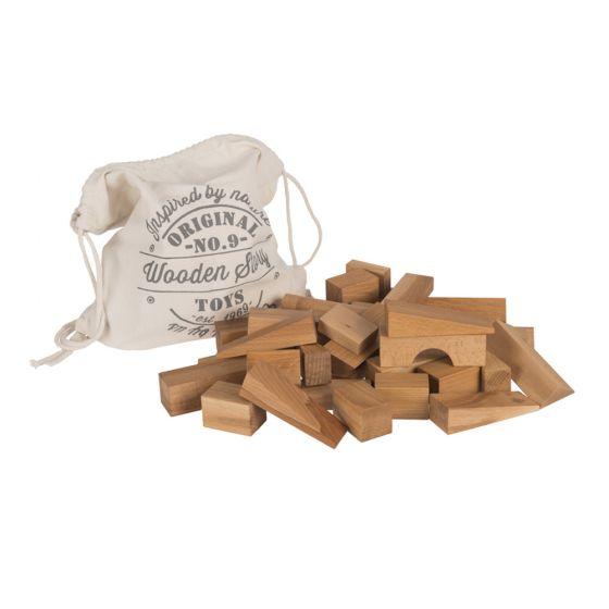 Blocchi da costruzione Legno Naturale 50 pz. grandi | Wooden Story