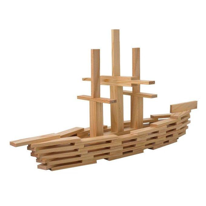 Kapla costruzioni legno naturale 100 pz yookids for Costruzioni in legno