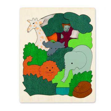Puzzle legno Animali Africani 2 strati